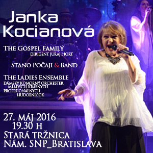 JANA KOCIANOVÁ & THE GOSPEL FAMILY 05/2016