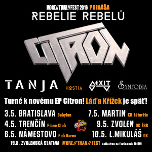 CITRON - REBELIE REBELŮ TOUR 05/2016