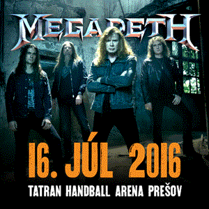 MEGADETH (USA) + HOSTIA 6/2016