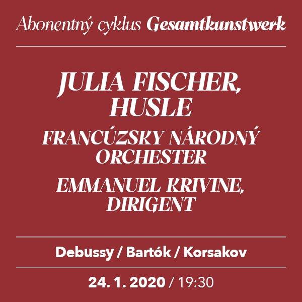 JULIA FISCHER – Debussy/Bartók/Korsakov