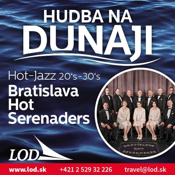 Bratislava Hot Serenaders na lodi