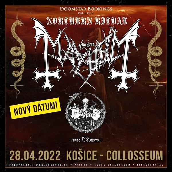 MAYHEM (NOR), MORTIIS (NOR)   28.04.2022 - štvrtok Collosseum Club, Košice