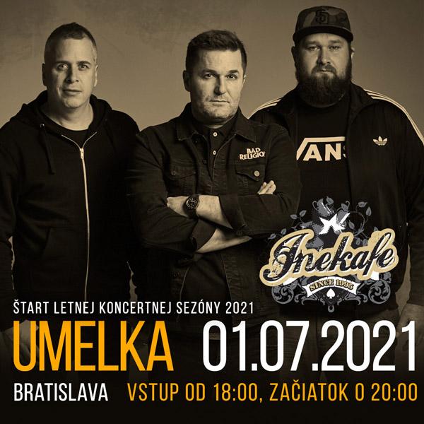 INEKAFE - BRATISLAVA, UMELKA, 01.07.2021 | 01.07.2021 - štvrtok Umelka, Dostojevského rad 2, Bratislava