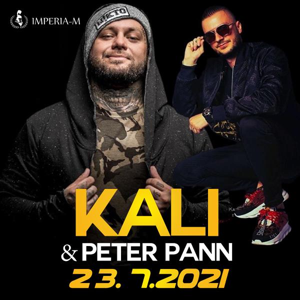 KALI a Peter Pann Live koncert   23.07.2021 - piatok Imperia-M, Nábrežie Or. Priehrady, Námestovo