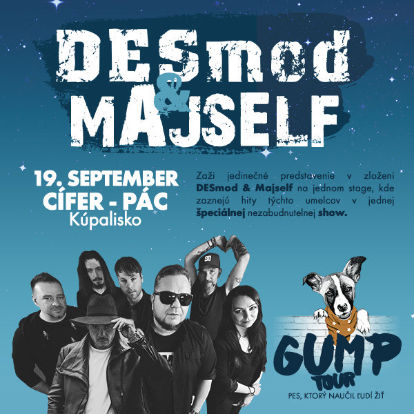 DESMOD & MAJSELF Cífer | 19.09.2021 - nedeľa Kúpalisko Pác, Cífer