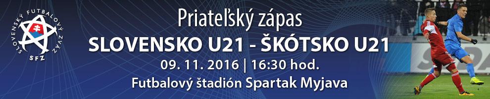 U-21 SLOVENSKO - ŠKÓTSKO